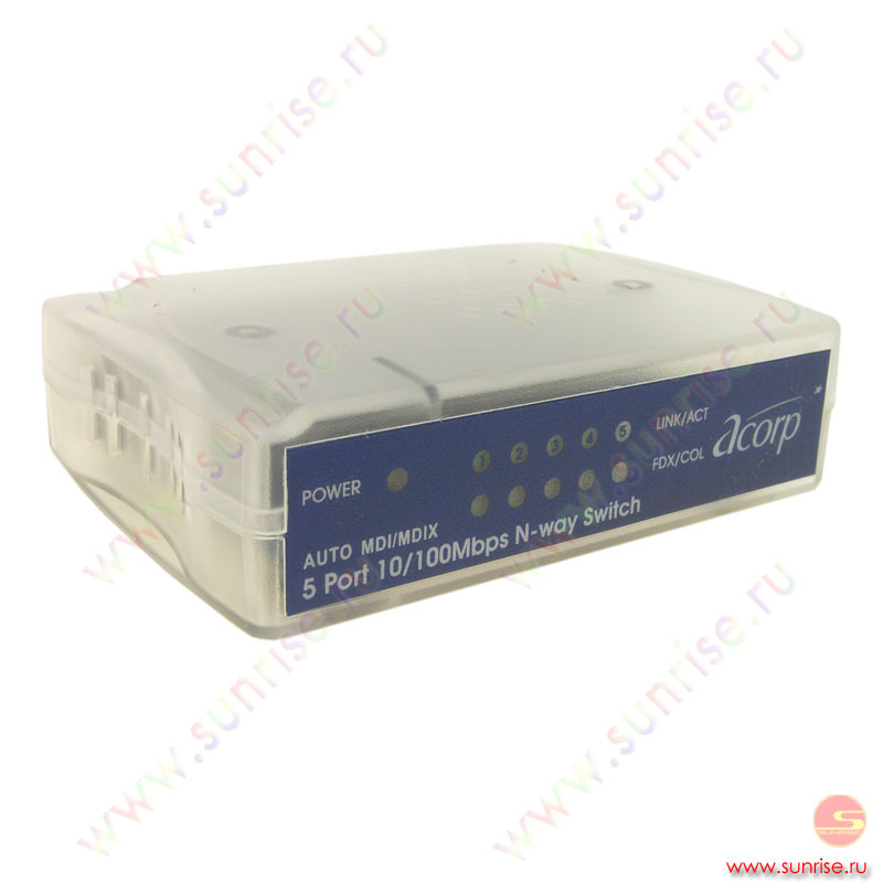 Коммутатор ACORP HU5DPU Luminous, 5ports (37089)