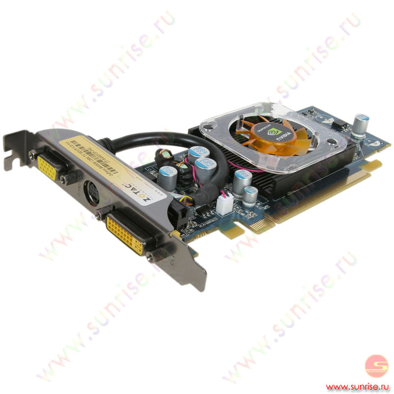 128Mb PCI-E GeForce 8400GS DDR2, TV, DVI, Zotac, retail