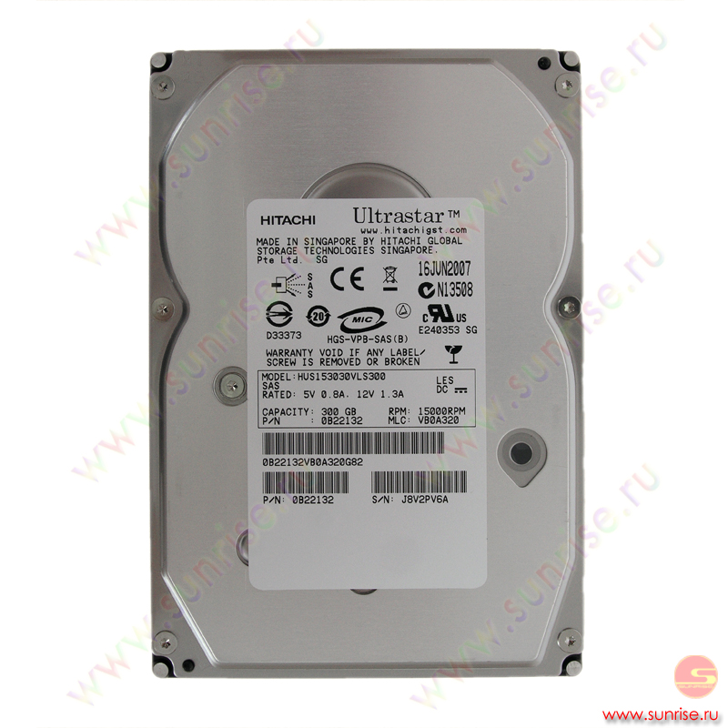 300,0 Gb HDD Hitachi (0B22132) UltraStar15K300 15000rpm 16Mb SAS