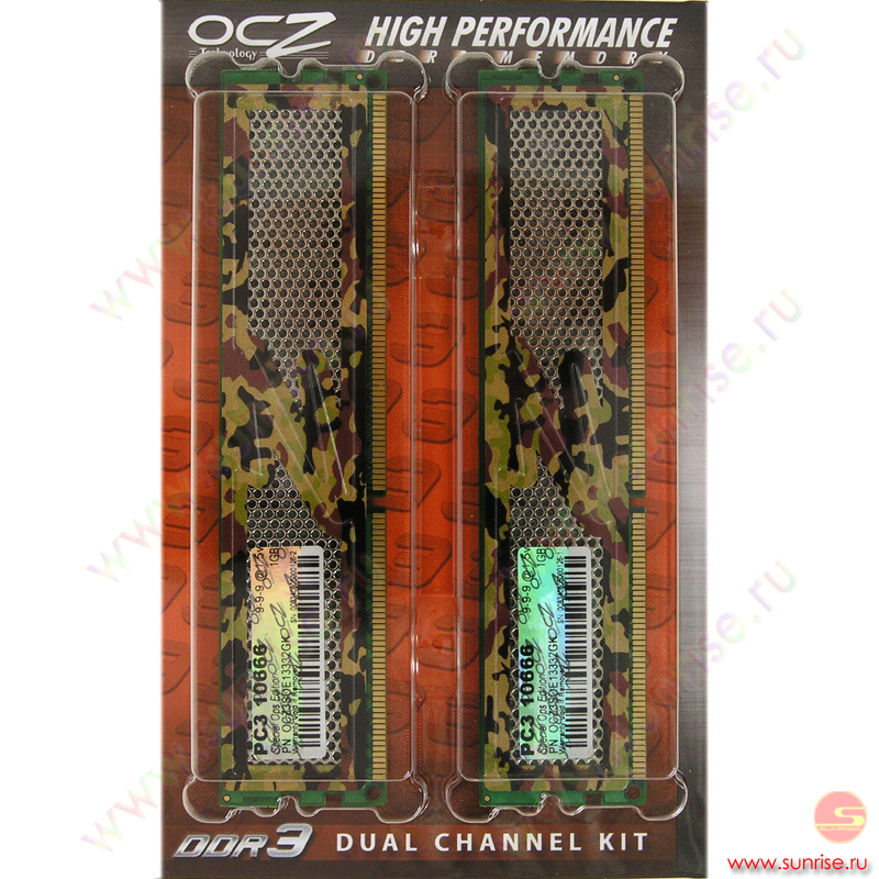 2xDIMM 1024Mb  PC3-10666(1333Mhz) OCZ  Special Ops Edition (OCZ3SOE13332GK) CL9