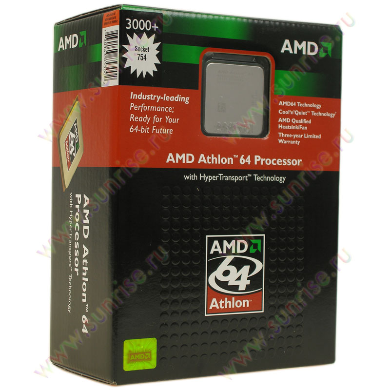 CPU AMD Athlon 64 3000+  Newcastle  (ADA3000AEP4AX/ P) Socket-754 BOX