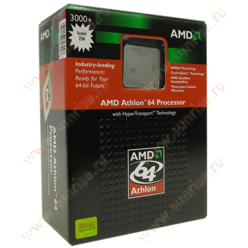 CPU AMD Athlon 64 3000+  ClawHammer  (ADA3000AEP4AR) Socket-754 BOX