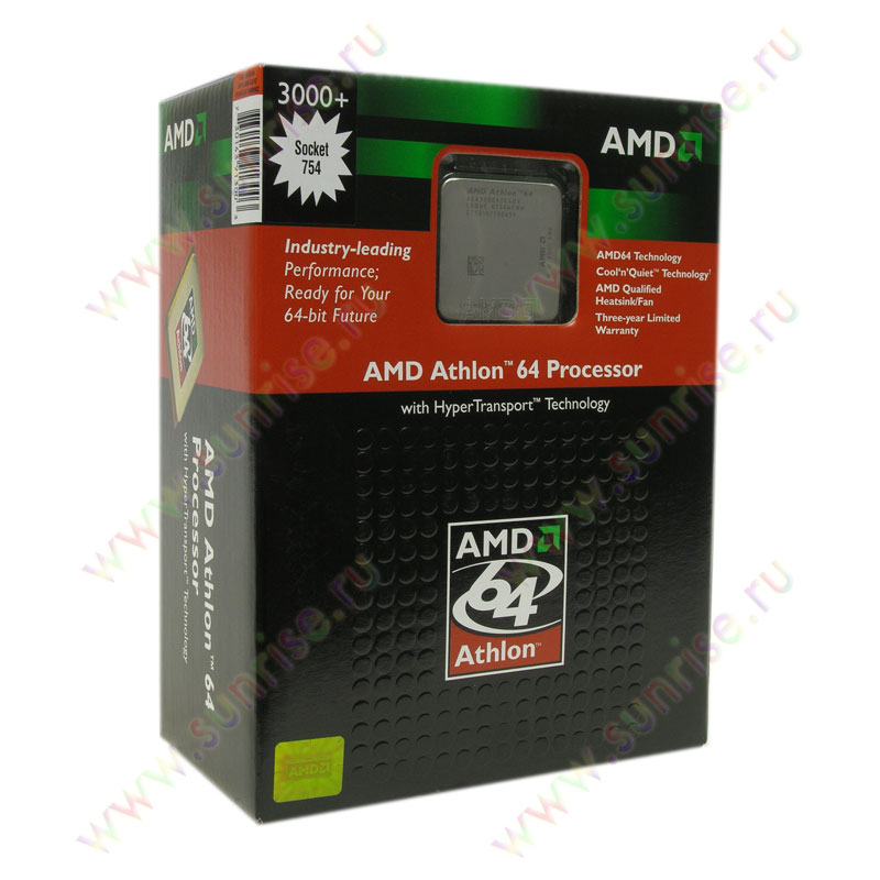 CPU AMD Athlon 64 3000+ (ADA3000AIK4BX) Socket-754 BOX (rev. E6)