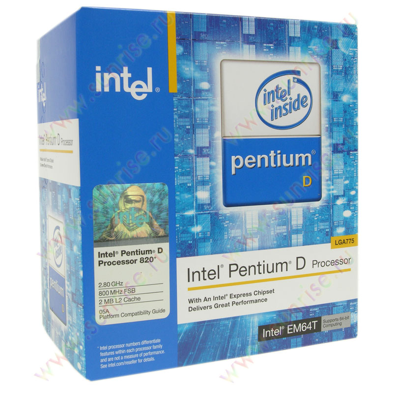 CPU Intel P-IV 820 2,8 PLGA (800MHz) 2x1Mb(Smithfield) Socket-775 BOX