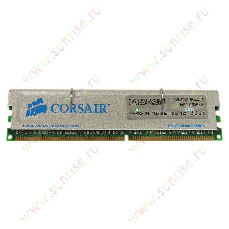 DIMM 1024Mb PC3200(400Mhz)  Corsair XMS [CMX1024-3200PT] 3-3-3-8