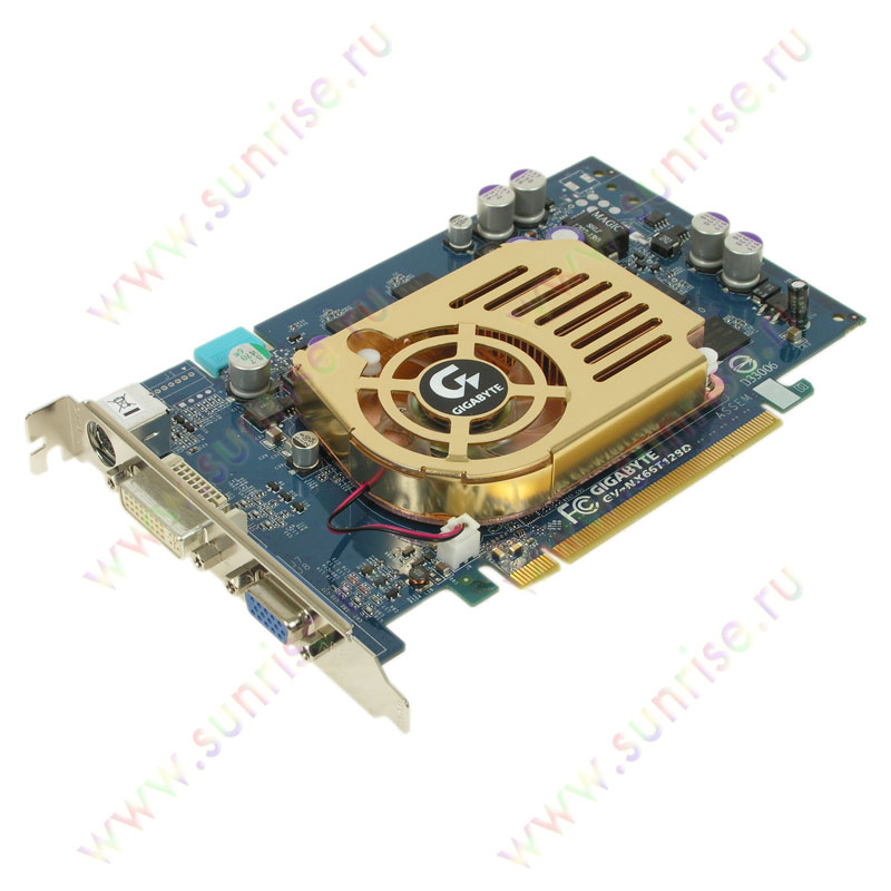 128MB PCI-E GeForce 6600GT, Gigabyte GV-NX66T128D, TV, DVI, oem
