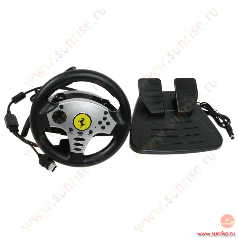 PS Руль с педалями ThrustMaster Chalenge Racing Wheel (для PS2/Xbox/Gamecube) (4060046)