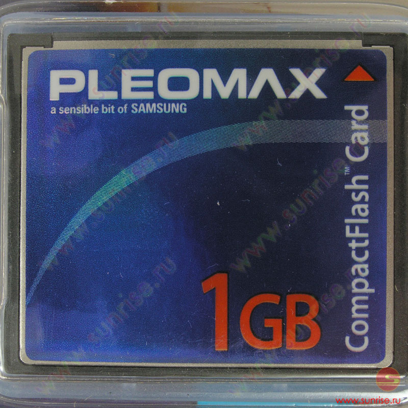 Носитель информации Compact Flash 1Gb Samsung Pleomax (SCF100A-1GB) 66x
