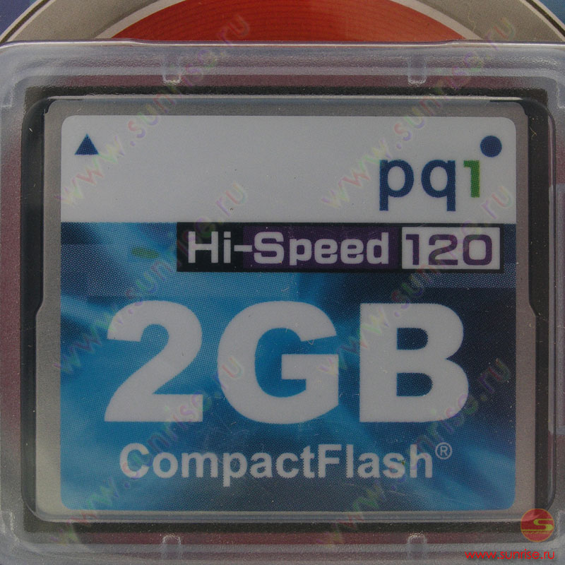 Носитель информации Compact Flash 2Gb PQI  120x