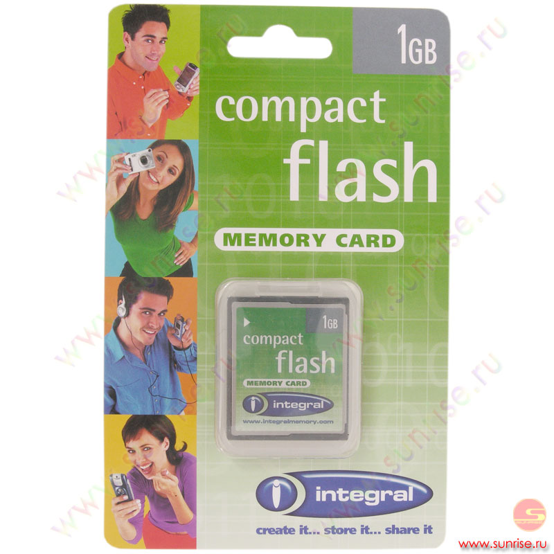 Носитель информации Compact Flash 1Gb Integral (19-02-35)