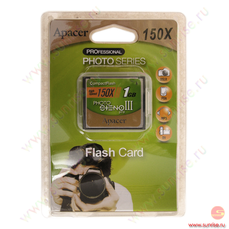 Носитель информации Compact Flash 1Gb Apacer 150x