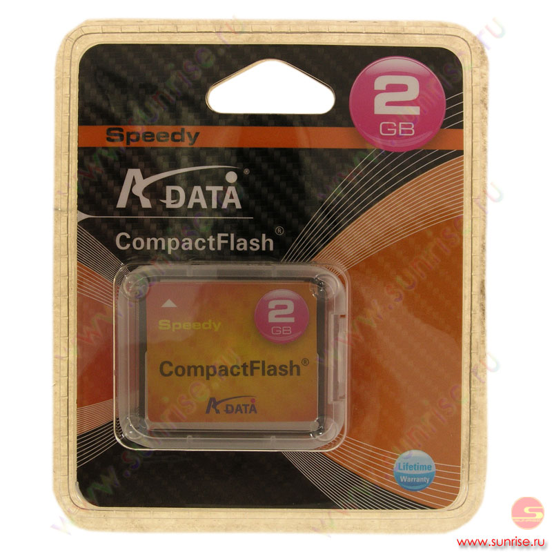 Носитель информации Compact Flash 2Gb  A-Data Speedy