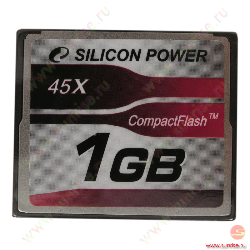 Носитель информации Compact Flash 1Gb Silicon Power (SP001GBCFC045V10) 45x