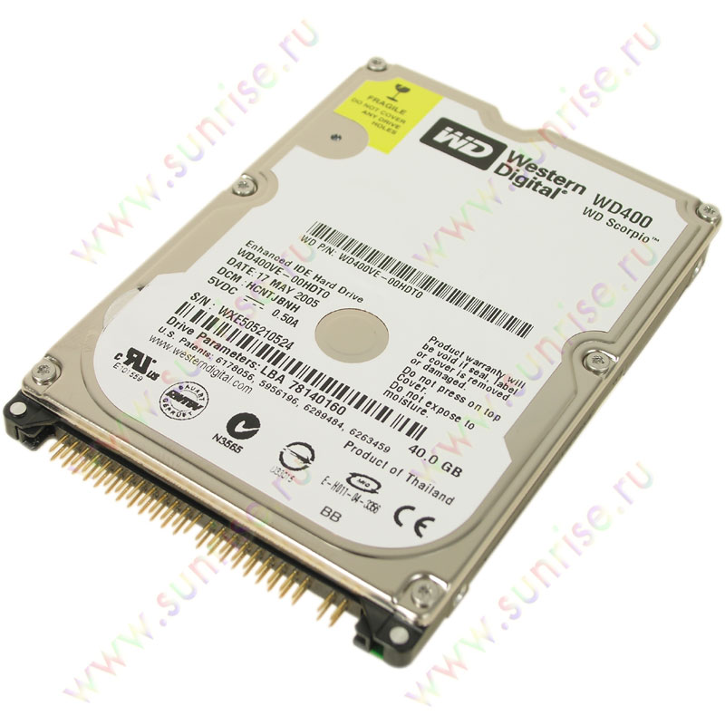 040,0 Gb HDD Western Digital (WD400VE) 5400 8Mb 2,5""
