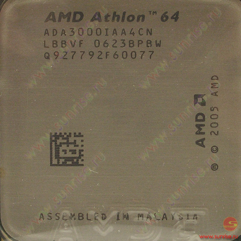 CPU AMD Athlon 64 3000+ Orleans  (ADA3000CN/CW)  Socket-AM2 BOX