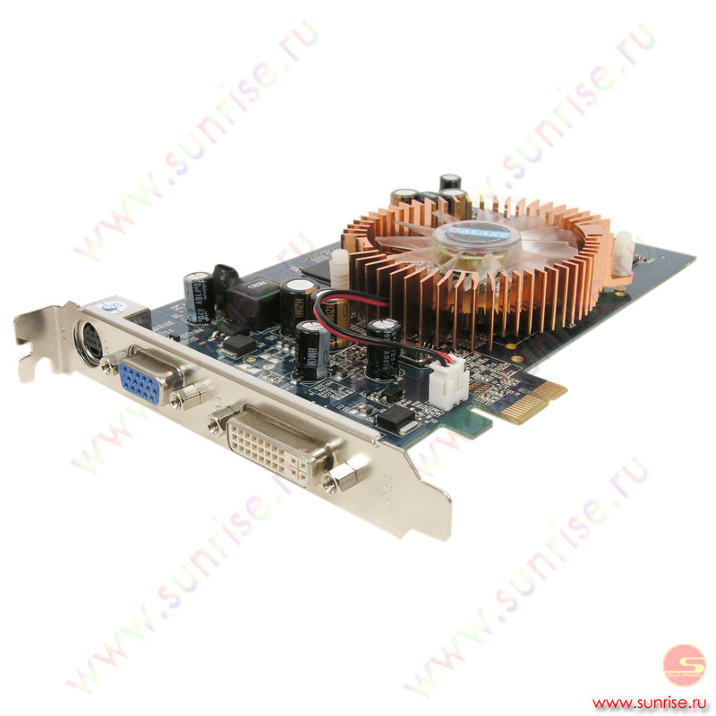 128Mb PCI-E_1x GeForce 7300GT DDR3, HDTV, DVI, Galaxy ( для upgrade плат без PCI-E 16x), retail