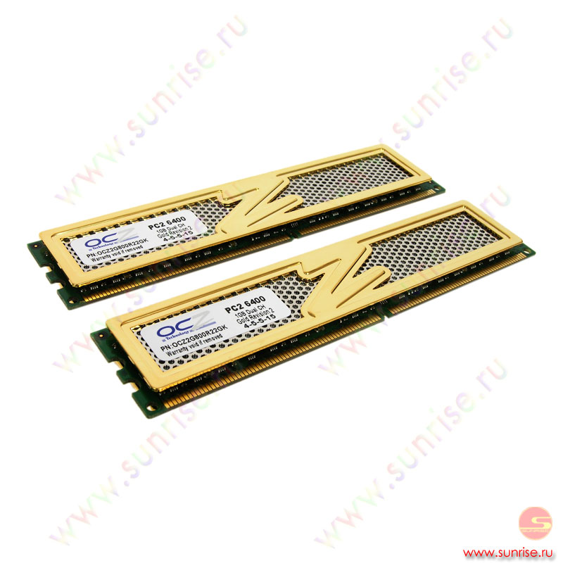 2xDIMM 1024Mb  PC2-6400(800Mhz) OCZ Gold Revision (OCZ2G800R22GK) 4-5-5-15