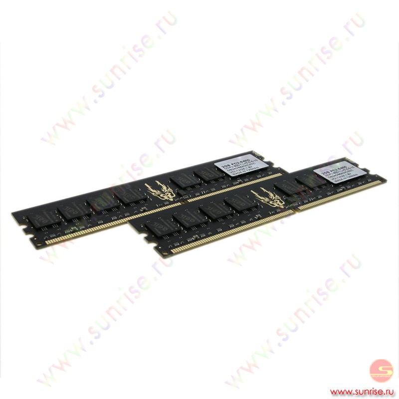 2xDIMM  2048Mb  PC2-6400(800Mhz) Geil Black Dragon (GB24GB6400C5DC) 5-5-5-15