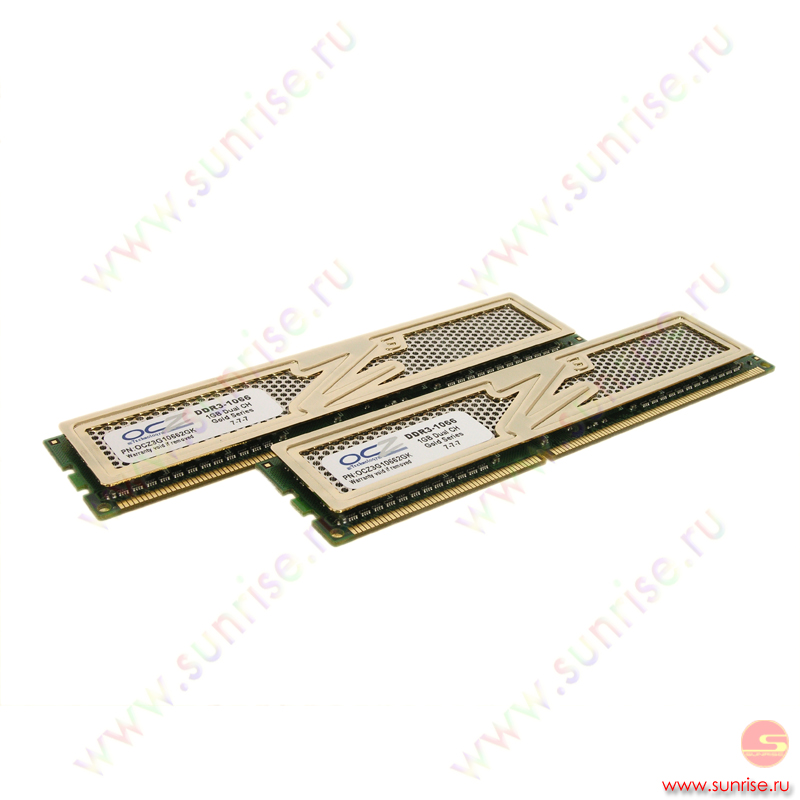 2xDIMM 1024Mb  PC3-8500 (1066Mhz) OCZ Gold Series [OCZ3G10662GK]  7-7-7-21