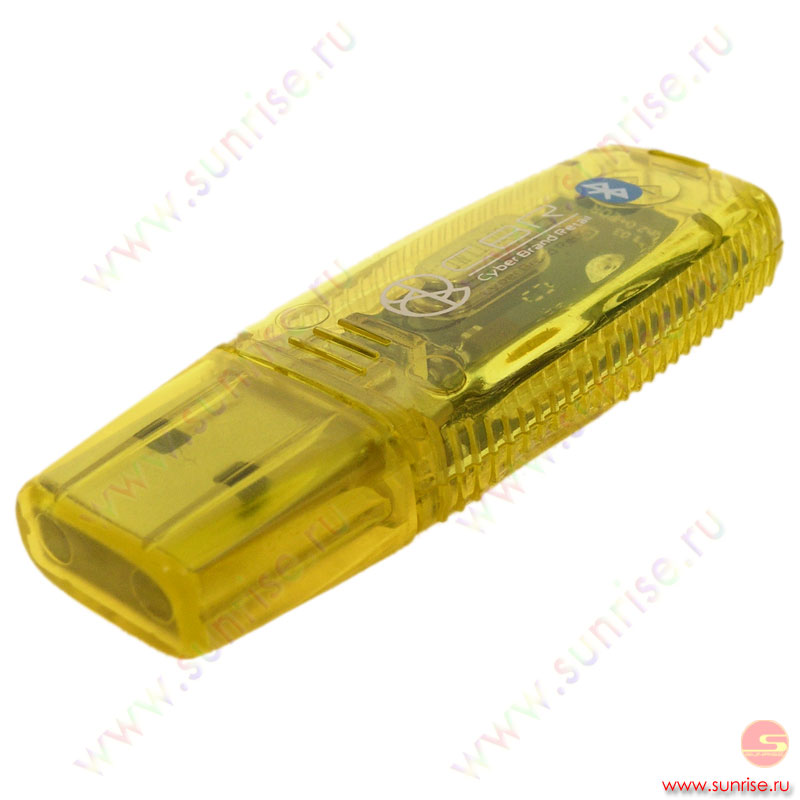 Адаптер Bluetooth 2.0 CBR Dok-30YL, Yelow, Dongle, ClassI 100m, USB, Rtl
