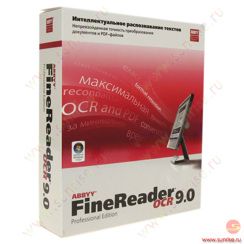 ABBYY FineReader 9.0 Professional Edition ABBYY (AF90-1S1B01)
